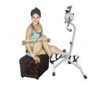 Stationary mini exercising bike for leg and hand practises