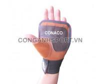 Găng tay tập tạ Conaco A1 (Đen phối cam)