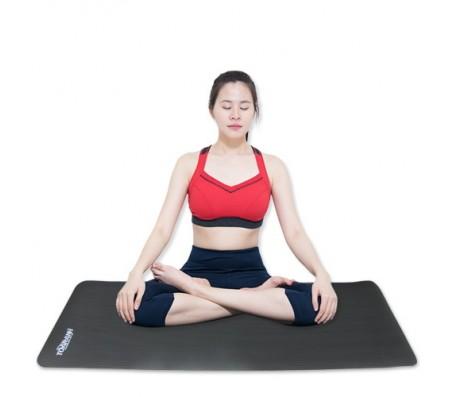 Thảm tập yoga TOÀN ANH NBR F-006XĐ 10ly (Xám Đậm)
