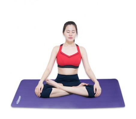 Thảm tập yoga TOÀN ANH NBR F-007T 15ly (Tím)