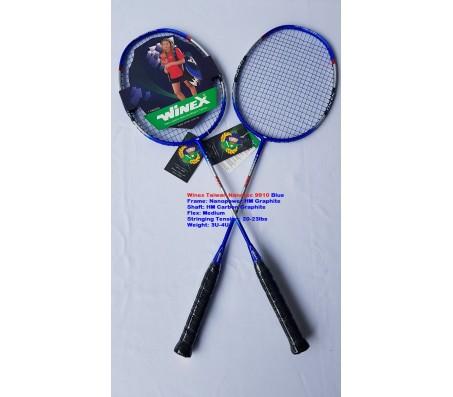 Vợt cầu lông có đan dây WINEX TAIWAN NANOTEC 9910 Xanh 01 Cặp (2 Cây)